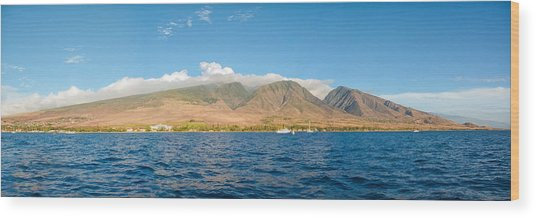 Maui's Southern Mountains   Wood Print