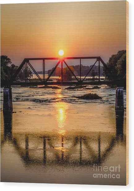 Maumee River At Grand Rapids Ohio Wood Print