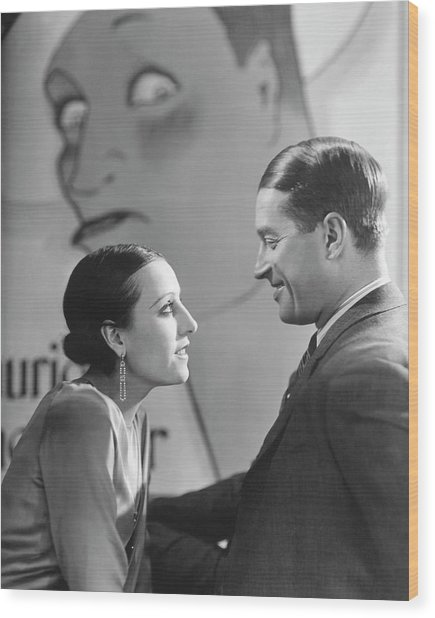 Maurice Chevalier And Yvonne Vallee Wood Print