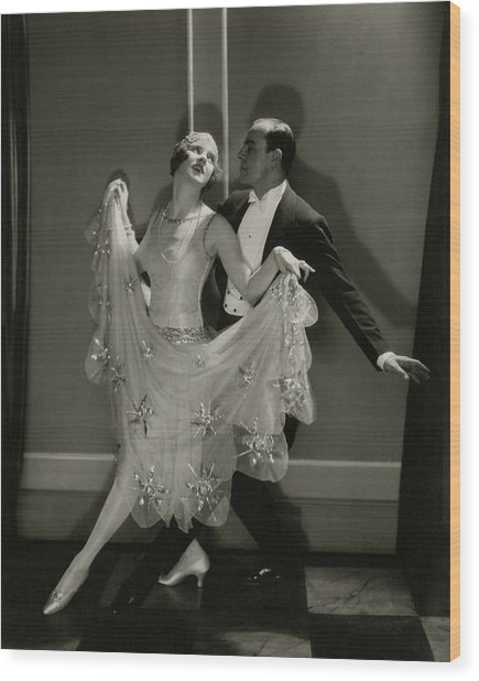 Maurice Mouvet And Leonora Hughes Dancing Wood Print by Edward Steichen