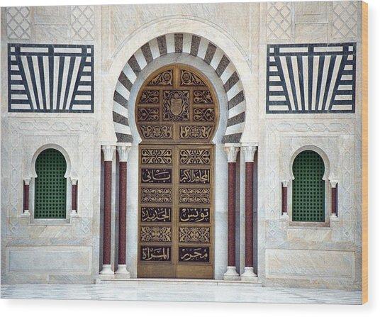 Mausoleum Doors Wood Print