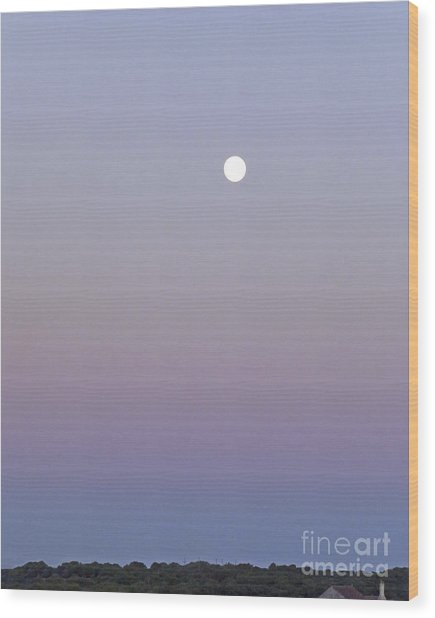 Mauve Moonlight Wood Print