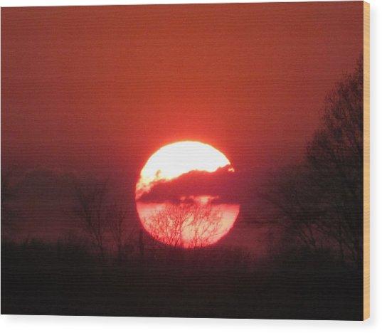 May 1 2013 Sunset Wood Print