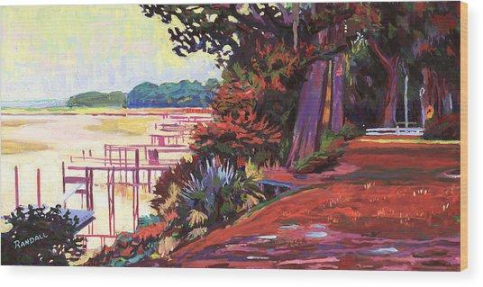 May River Docks Wood Print