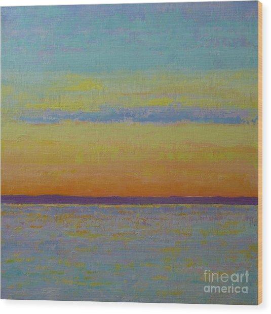 May Sunset Wood Print