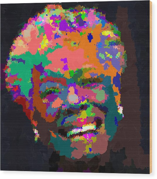Maya Angelou - Abstract Wood Print