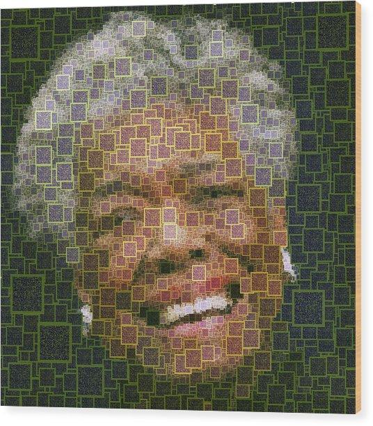 Maya Angelou - Qr Code Wood Print