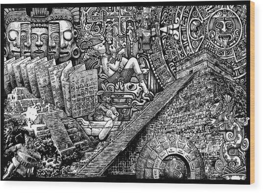 Mayannual Wood Print