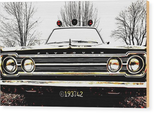Mayberry Wood Print by Sharon Costa
