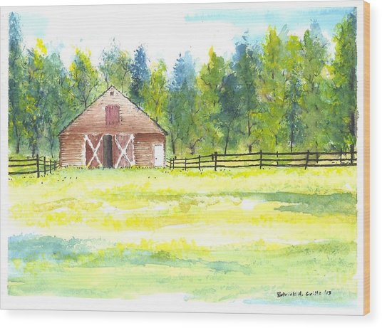 Mayberry's Barn Wood Print