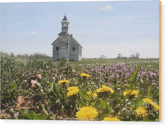 Mayflower Church Wood Print
