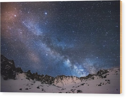 Mayflower Gulch Milky Way Wood Print