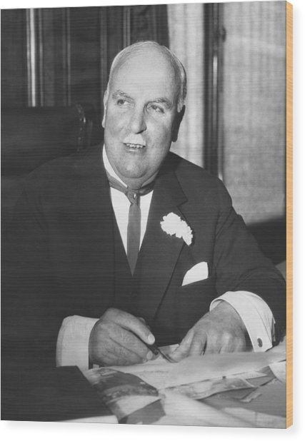 Mayor James sunny Jim Rolph Wood Print