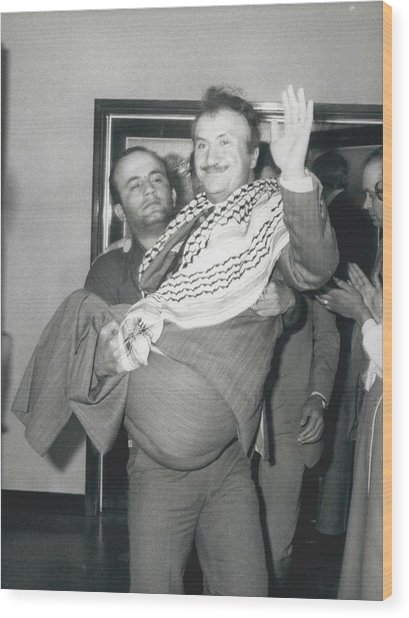 Mayor Of Israeli Occupied Nablus Arrives In London For Wood Print by Retro Images Archive