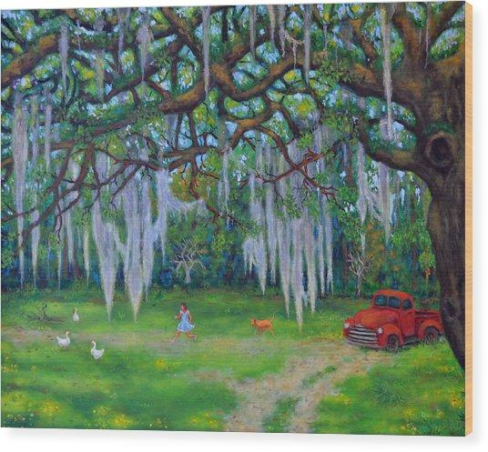 Mcclellanville Goose Chase Wood Print