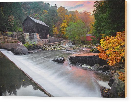 Mcconnell's Mill Fall  Wood Print