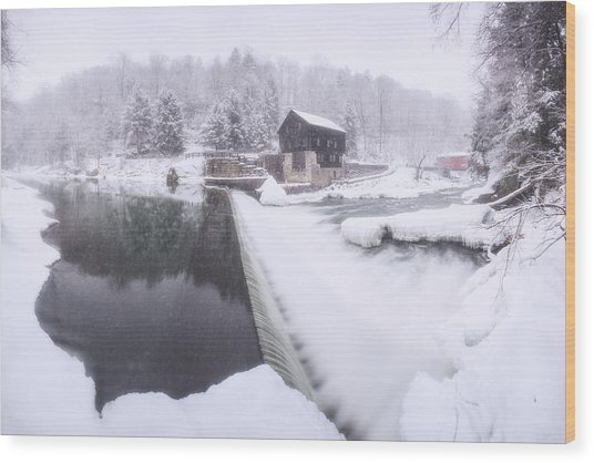 Mcconnell's Mill Winter  Wood Print