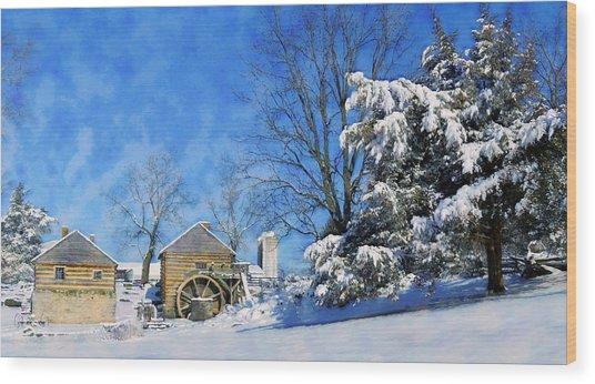 Mccormick's Farm February 2012 Series V Wood Print by Kathy Jennings