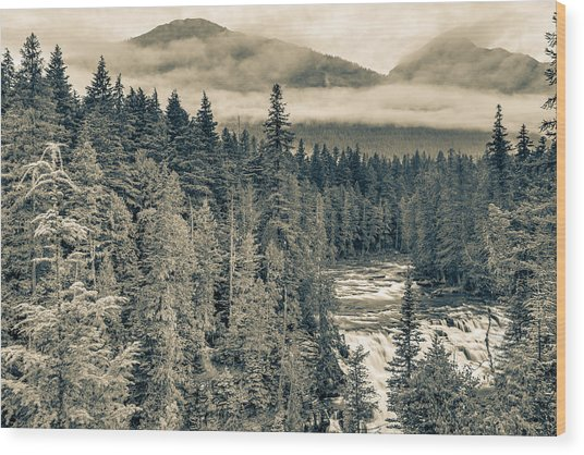 Mcdonald Creek Horizontal Wood Print