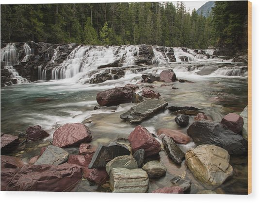Mcdonald Creek Wood Print