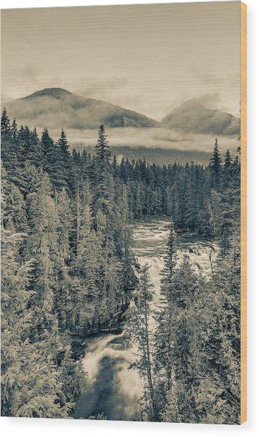 Mcdonald Creek Vertical Wood Print