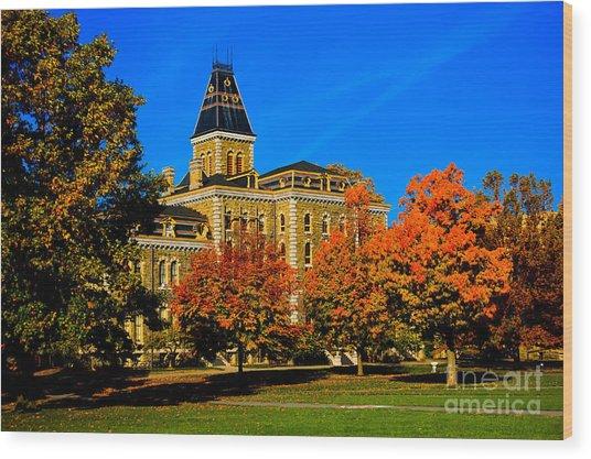 Mcgraw Hall Cornell University Wood Print