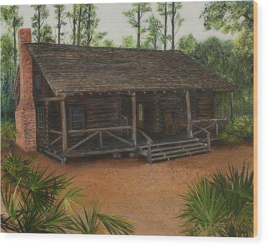 Mcmullen Log Cabin Wood Print