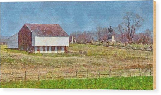 Mcpherson's Barn At Gettysburg National Military Park Wood Print