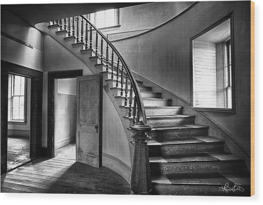 Meade Staircase Wood Print