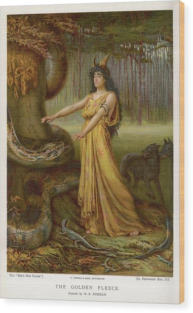 Medea, Daughter Of Aeetes King Wood Print by Mary Evans Picture Library