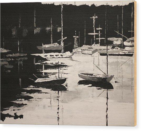 Medford Boat Club Wood Print by Robert Crooker