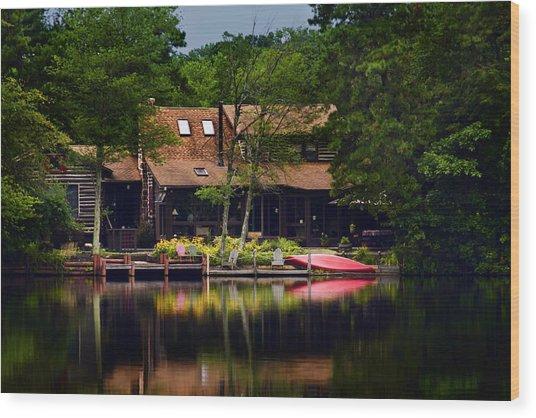 Medford Lakes I Wood Print