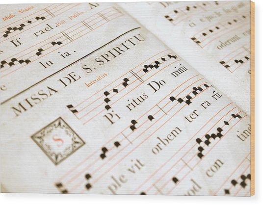 Mediavel Chorus Book  Wood Print