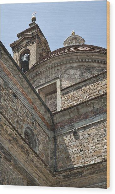 Medici Chapel And Basicilica Of San Lorenzo Wood Print