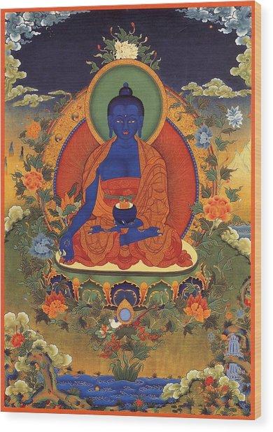 Medicine Buddha 8 Wood Print