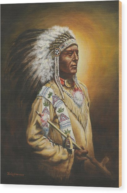 Medicine Chief Wood Print