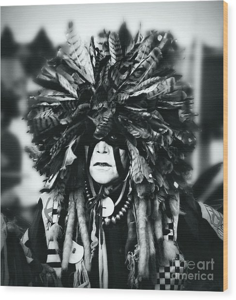 Medicine Man Silver Screen Wood Print by Scarlett Images Photography