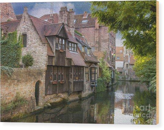 Medieval Bruges Wood Print