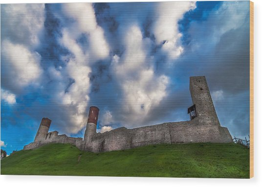 Medieval Castle In Checiny In Poland Wood Print