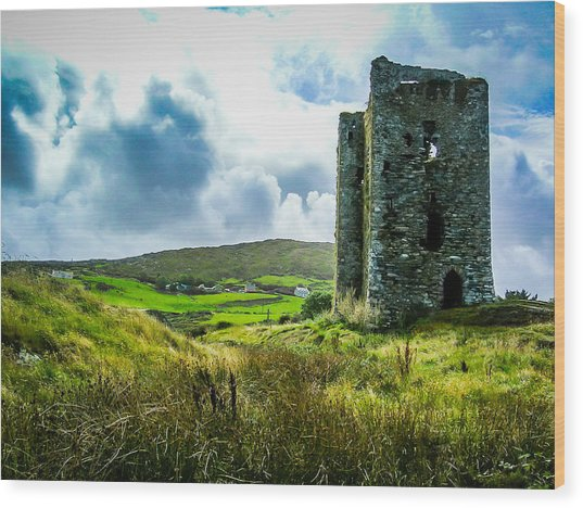 Medieval Dunmanus Castle On Ireland's Mizen Peninsula Wood Print