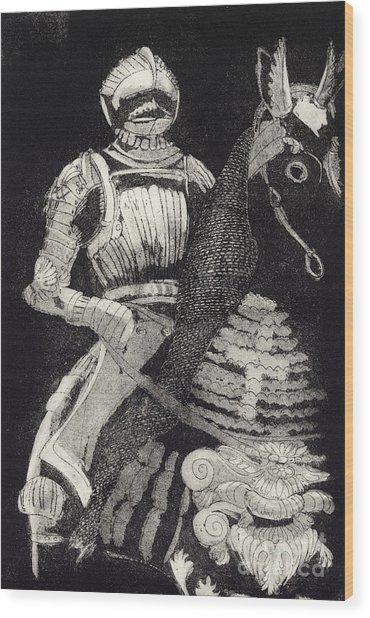 Medieval Knight On Horseback - Chevalier - Caballero - Cavaleiro - Fidalgo - Riddare -ridder -ritter Wood Print