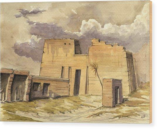 Medinet Temple Egypt Wood Print