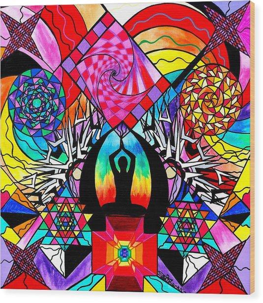 Meditation Aid Wood Print