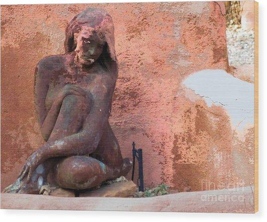 Meditation Wood Print by Claudette Bujold-Poirier