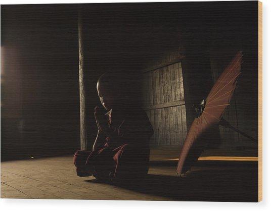 Meditation Wood Print by Gunarto Song