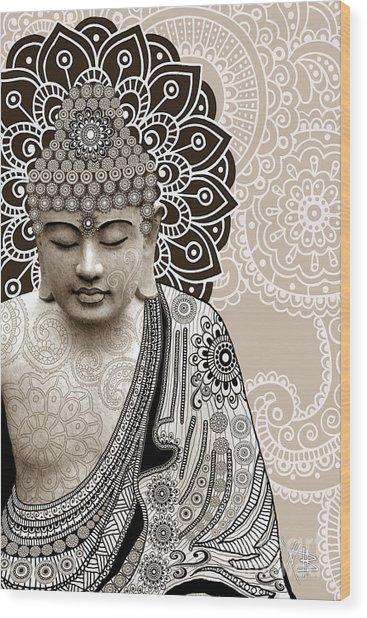 Meditation Mehndi - Paisley Buddha Artwork - Copyrighted Wood Print