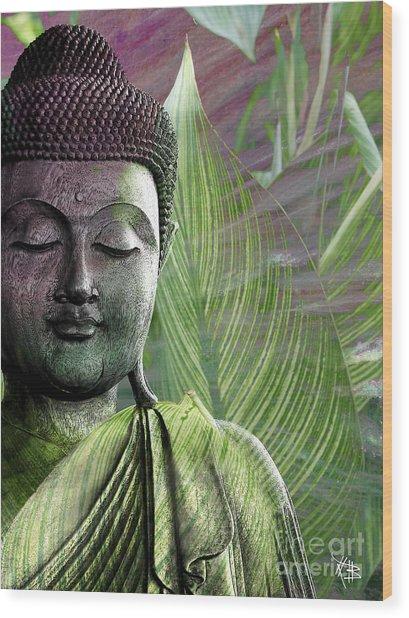 Meditation Vegetation Wood Print