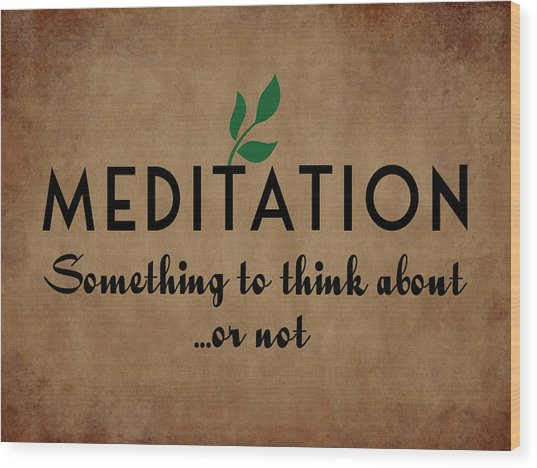 Meditation Wood Print by Flo Karp