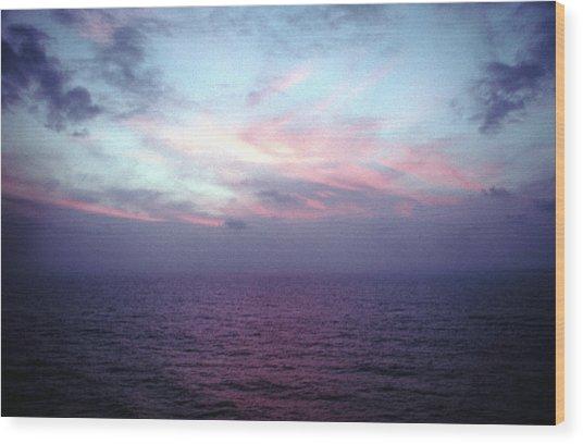 Mediterranen Sunset Wood Print by Tom Wurl