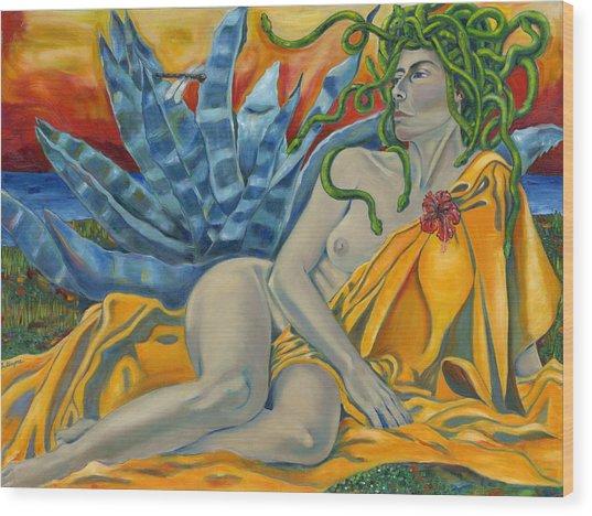 Medusa Redeemed Wood Print